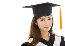 Beautiful young woman college graduation Stock Image