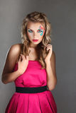 Beautiful young woman with creative Royalty Free Stock Photography
