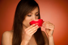 Beautiful young woman with cup of tea in her hands Stock Images