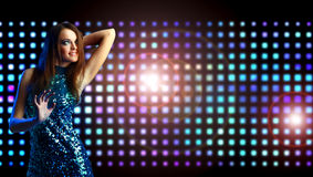Beautiful young woman dancing Royalty Free Stock Photography
