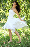 Beautiful young woman dancing Stock Photography