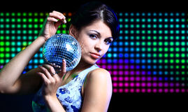 Beautiful young woman dancing Royalty Free Stock Photography