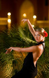 Beautiful young woman dancing Stock Image