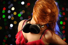 Beautiful young woman dancing in the club Royalty Free Stock Images