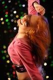 Beautiful young woman dancing in the club Stock Photo