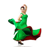 Beautiful young woman dancing flamenco Stock Photography