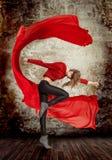 Beautiful young woman dancing Stock Photo