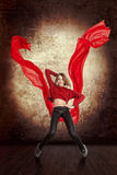 Beautiful young woman dancing Royalty Free Stock Images