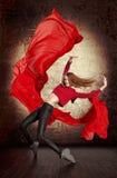 Beautiful young woman dancing Stock Photos
