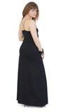 Beautiful young woman in dark long dress Royalty Free Stock Photo