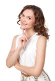 Beautiful young woman daydreaming Royalty Free Stock Photo