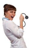 Beautiful young woman doctor Stock Photos