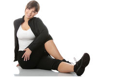 Beautiful young woman doing exercise Royalty Free Stock Photo