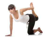 Beautiful young woman doing exercise Stock Image
