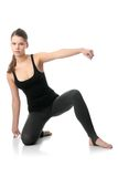 Beautiful young woman doing exercise Royalty Free Stock Images