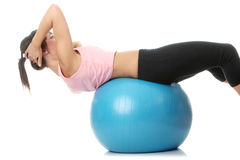 Beautiful young woman doing exercise Royalty Free Stock Photos