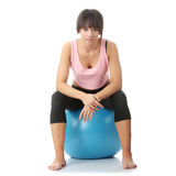 Beautiful young woman doing exercise Royalty Free Stock Photography