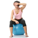 Beautiful young woman doing exercise Royalty Free Stock Image