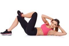 Beautiful young woman doing exercises Stock Photography