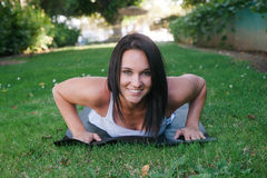Beautiful young woman doing yoga Stock Image