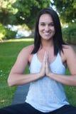 Beautiful young woman doing yoga Royalty Free Stock Photos