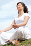 Beautiful young woman doing yoga Royalty Free Stock Photo