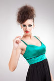 Beautiful young woman in a dress Stock Image
