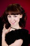 Beautiful young woman in dress Stock Photo