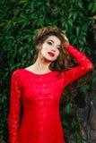 Beautiful young woman dress Royalty Free Stock Photos