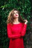 Beautiful young woman dress Stock Image