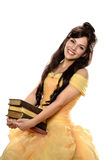 Beautiful Young Woman Dressed in Princess Dress royalty free stock photos
