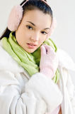 Beautiful young woman dressed for winter season. Royalty Free Stock Photos