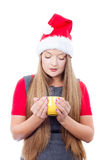 Beautiful young woman drinking Royalty Free Stock Photo