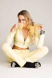 Beautiful Young Woman Drinking Tea Stock Image