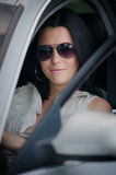 Beautiful young woman driving a car Royalty Free Stock Photography