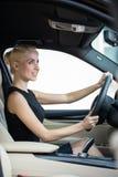 Beautiful young woman driving car Royalty Free Stock Photo