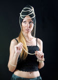 Beautiful young woman in east turban Stock Photography