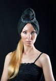 Beautiful young woman in east turban Royalty Free Stock Photography