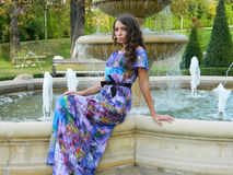 Beautiful young woman, from Eastern Europe, Romania posing and e. Beutiful young woman, from Eastern Europe, Romania, enjoying herself and beeing happy while Stock Photos