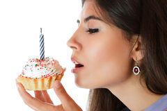 Beautiful young woman eating Royalty Free Stock Photo