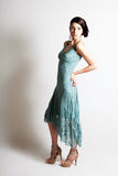 Beautiful Young Woman in an Elegant Evening Gown Royalty Free Stock Photography