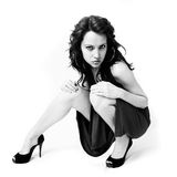 Beautiful young woman in elegant shoes Royalty Free Stock Photo