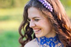 Beautiful Young Woman Enjoy Nature Royalty Free Stock Photos