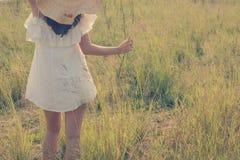 Beautiful young woman enjoying the fabulous nature, dream soft s Royalty Free Stock Photos