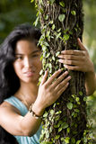 Beautiful young woman enjoying nature Royalty Free Stock Photos