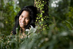Beautiful young woman enjoying nature Royalty Free Stock Images