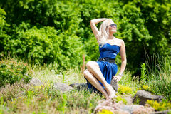 Beautiful Young Woman Enjoying Nature Royalty Free Stock Photo