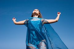 Beautiful young woman enjoying outdoors Stock Image