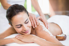 Beautiful young woman enjoying spa treatment Royalty Free Stock Photo