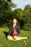 Beautiful young woman enjoying sunny day Royalty Free Stock Image